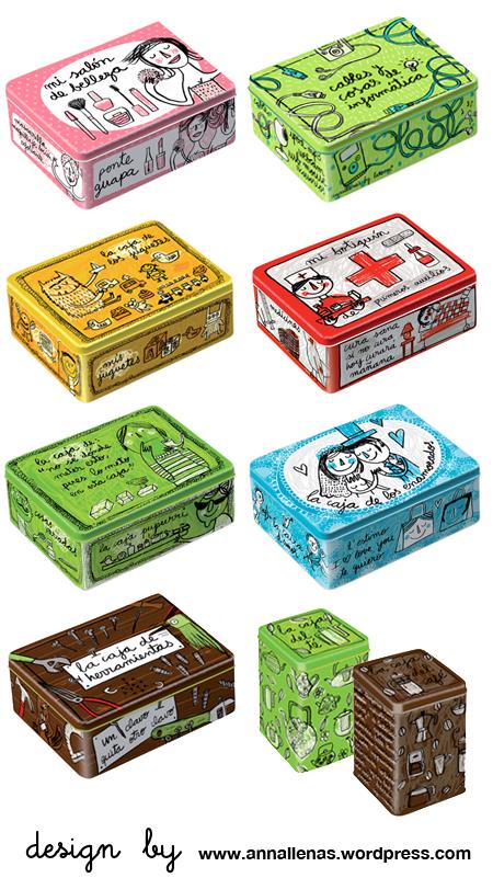 cajas metalicas para almacenar botiquin belleza juguetes amor cables herramientas